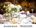 event table setting | Shutterstock . vector #783363289