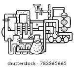 chemical process in the... | Shutterstock .eps vector #783365665