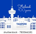 tampere finland city vector... | Shutterstock .eps vector #783366181