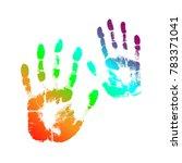 print of hand of human  cute...   Shutterstock . vector #783371041