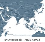southern asia map   detailed... | Shutterstock .eps vector #783373915