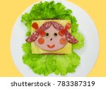 creative sandwich snack with... | Shutterstock . vector #783387319
