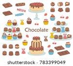 chocolate dessert collection ... | Shutterstock .eps vector #783399049