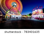 carnival time lapse with ferris ... | Shutterstock . vector #783401635