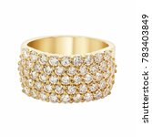 diamonds wedding eternity band... | Shutterstock . vector #783403849