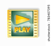 play video icon isolated.... | Shutterstock .eps vector #783407395