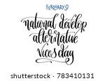 february 9   national develop... | Shutterstock .eps vector #783410131
