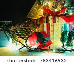 christmas background. happy new ... | Shutterstock . vector #783416935