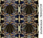 baroque gold seamless pattern...   Shutterstock .eps vector #783423739