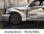 car after crash  crashed blue... | Shutterstock . vector #783425881