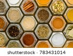 Colorful Herbs And Spices In...