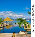 in paradise sea exotic | Shutterstock . vector #78343546