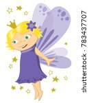 little cute purple fairy with... | Shutterstock .eps vector #783437707