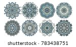 set of decorative circle... | Shutterstock .eps vector #783438751