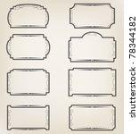 set of labels | Shutterstock .eps vector #78344182