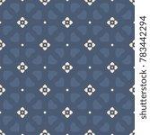 simple geometric folk floral...   Shutterstock .eps vector #783442294