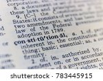 constitutional dictionary... | Shutterstock . vector #783445915
