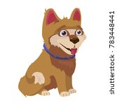 cute shaggy puppy with... | Shutterstock .eps vector #783448441