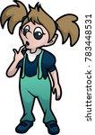 curious little girl | Shutterstock .eps vector #783448531