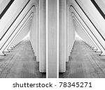 modern symmetric tunnel in... | Shutterstock . vector #78345271