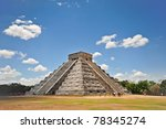 chichen itza mayan temple in... | Shutterstock . vector #78345274