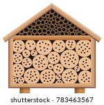 insect hotel   wooden bug house ... | Shutterstock .eps vector #783463567