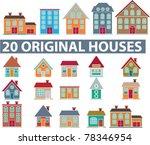 20 original houses  icons ... | Shutterstock .eps vector #78346954
