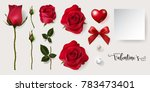 realistic of red roses 5 styles ...