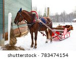 Winter Sleigh Rides Pulled By...