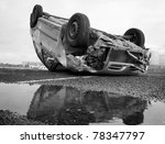 car turned upside down after... | Shutterstock . vector #78347797