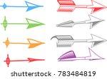 set of abstract arrow vector | Shutterstock .eps vector #783484819