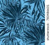 watercolor seamless pattern... | Shutterstock . vector #783486631