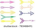 set of abstract arrow vector | Shutterstock .eps vector #783488491