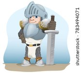 knight with a sword  medieval... | Shutterstock .eps vector #783494071