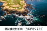 drone view of a golf course... | Shutterstock . vector #783497179