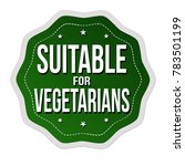 suitable for vegetarians label... | Shutterstock .eps vector #783501199