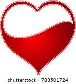 red heart valentine love logo... | Shutterstock .eps vector #783501724