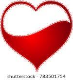 red heart valentine love logo... | Shutterstock .eps vector #783501754