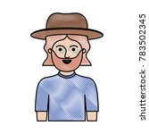 man half body with hat and t... | Shutterstock .eps vector #783502345