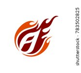 comet letter a initial logo | Shutterstock .eps vector #783502825