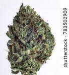 cured cannabis macro bud shot. | Shutterstock . vector #783502909