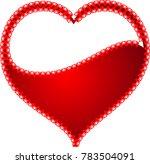 red heart valentine love logo... | Shutterstock .eps vector #783504091