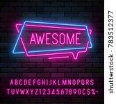 neon light linear promotion... | Shutterstock .eps vector #783512377