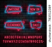 neon light linear promotion... | Shutterstock .eps vector #783512389