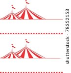 circus tent border.  ideal for... | Shutterstock .eps vector #78352153