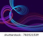 cyan blue neon and violet... | Shutterstock .eps vector #783521539