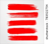 red brush stroke and texture.... | Shutterstock .eps vector #783522754