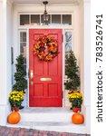 Seasonal Fall Themed Front Door