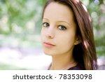 romantic portrait of beautiful... | Shutterstock . vector #78353098