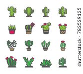 cactus icon set | Shutterstock .eps vector #783539125